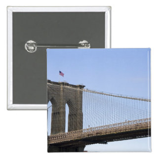 The Brooklyn Bridge in New York City, New 2 Pinback Button