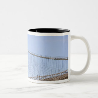 The Brooklyn Bridge in New York City, New 2 Two-Tone Coffee Mug