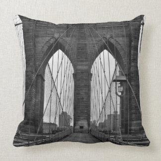 The Brooklyn Bridge in New York City Pillows