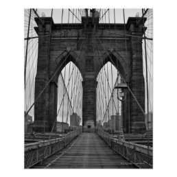 The Brooklyn Bridge in New York City Poster