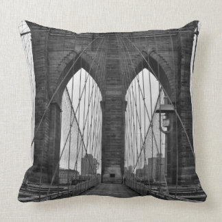 The Brooklyn Bridge in New York City Throw Pillow