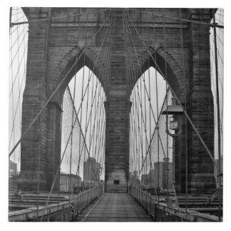 The Brooklyn Bridge in New York City Tile