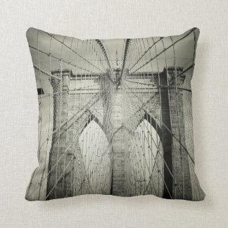 The Brooklyn Bridge Throw Pillows