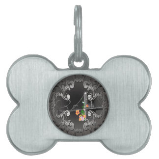 The Brooklyn Bridge with flowers Pet Tags