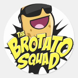 The Brotato Squad Symbol! Classic Round Sticker