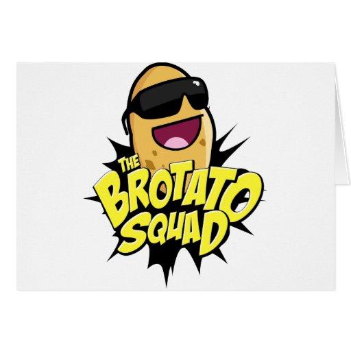 The Brotato Squad Symbol! Greeting Card