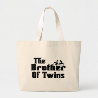 The BROTHER of TWINS Large Tote Bag