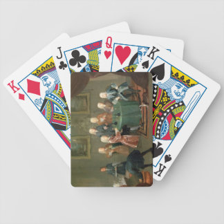 The Brothers Clarke with Other Gentlemen Taking Wi Bicycle Playing Cards
