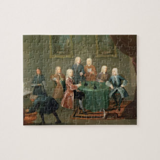 The Brothers Clarke with Other Gentlemen Taking Wi Jigsaw Puzzle