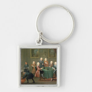 The Brothers Clarke with Other Gentlemen Taking Wi Keychain