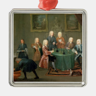 The Brothers Clarke with Other Gentlemen Taking Wi Metal Ornament