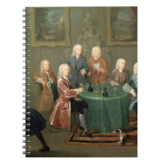 The Brothers Clarke with Other Gentlemen Taking Wi Spiral Notebook