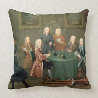 The Brothers Clarke with Other Gentlemen Taking Wi Throw Pillow