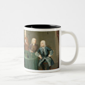 The Brothers Clarke with Other Gentlemen Taking Wi Two-Tone Coffee Mug