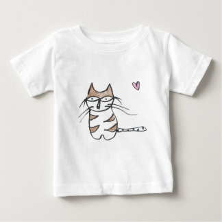 The Brown and White Kitty Baby T-Shirt