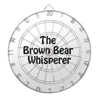the brown bear whisperer dartboard with darts