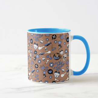 The brown/blue pattern mug
