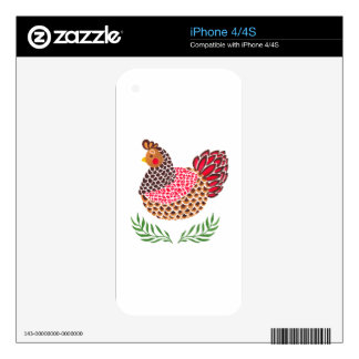 The Brown Hen Decals For The iPhone 4S