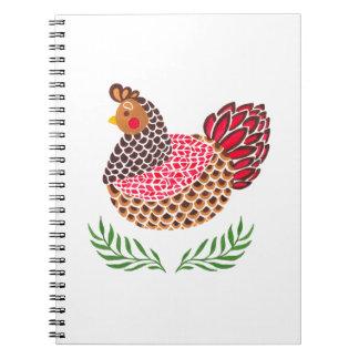 The Brown Hen Spiral Notebook