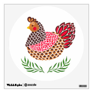 The Brown Hen Wall Decal