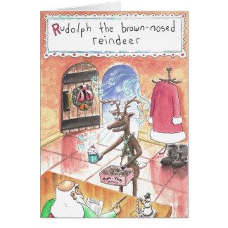 the Brown-nosed Reindeer Card