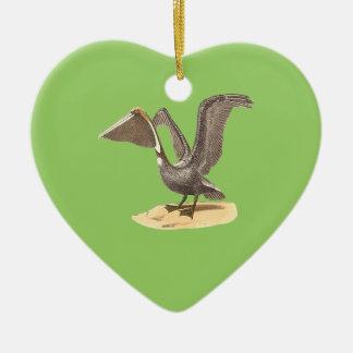 The Brown Pelican(Pelecanus fuscus) Ceramic Ornament