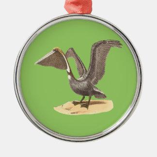 The Brown Pelican(Pelecanus fuscus) Metal Ornament