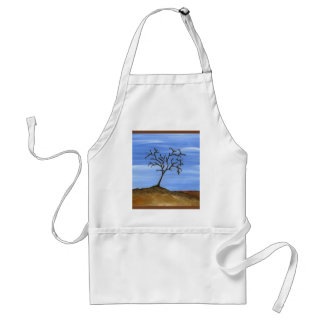 The Brown Tree Traditional Minimalist Painting Adult Apron