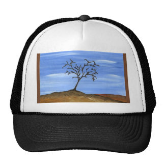 The Brown Tree Traditional Minimalist Painting Trucker Hat