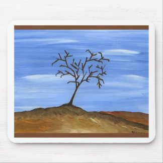 The Brown Tree Traditional Minimalist Painting Mousepad