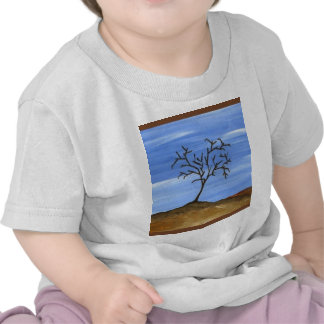 The Brown Tree Traditional Minimalist Painting T-shirt