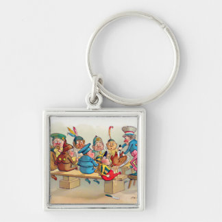 The Brownie's Christmas Dinner Keychains