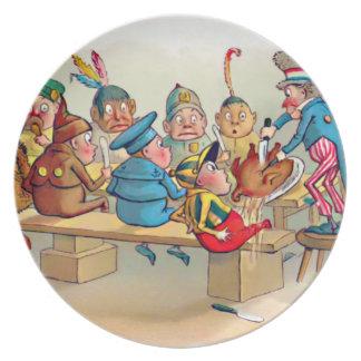 The Brownie's Christmas Dinner Melamine Plate