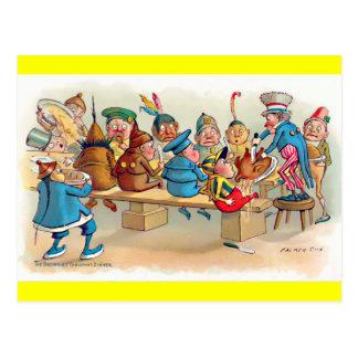 The Brownie's Christmas Dinner Postcard