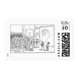 The Brownies Study Phrenology Postage