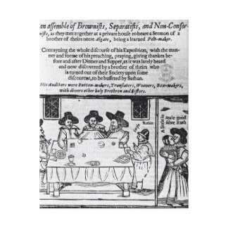 The Brownist Conventicle', published in 1641 Canvas Print