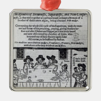 The Brownist Conventicle', published in 1641 Metal Ornament