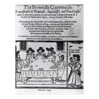 The Brownist Conventicle', published in 1641 Postcard