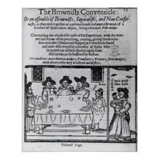 The Brownist Conventicle', published in 1641 Posters