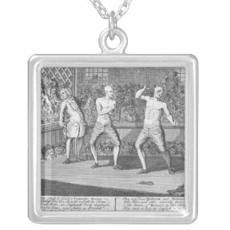 The Bruiser Bruis'd, Or, the Knowing-Ones Silver Plated Necklace