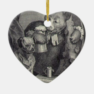 The Bruiser Charles Churchill, once the Reverend Double-Sided Heart Ceramic Christmas Ornament