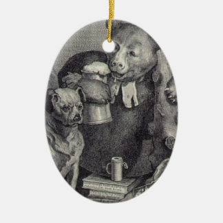 The Bruiser Charles Churchill, once the Reverend Double-Sided Oval Ceramic Christmas Ornament