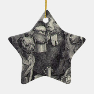 The Bruiser Charles Churchill, once the Reverend Double-Sided Star Ceramic Christmas Ornament