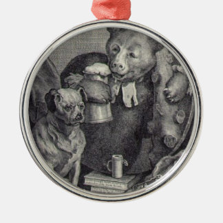 The Bruiser Charles Churchill, once the Reverend Round Metal Christmas Ornament