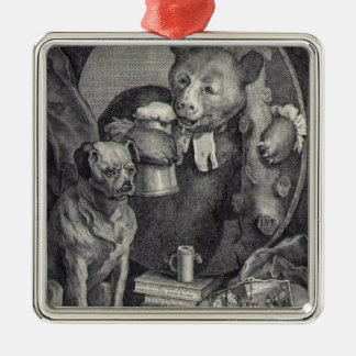The Bruiser Charles Churchill, once the Reverend Square Metal Christmas Ornament