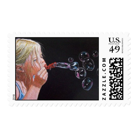 THE BUBBLE BLOWER STAMP