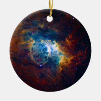 The Bubble Nebula NGC 7635 Sharpless 162 Ceramic Ornament