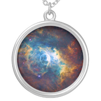 The Bubble Nebula NGC 7635 Sharpless 162 Round Pendant Necklace