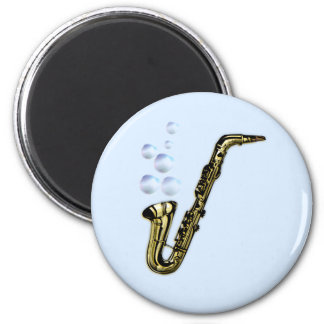 The Bubble Saxophone 2 Inch Round Magnet