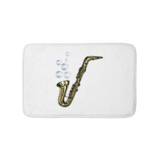 The Bubble Saxophone Bath Mat
